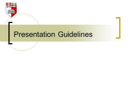 Presentation Guidelines. 2 DO'S and DON'Ts for a videoconference presentation.