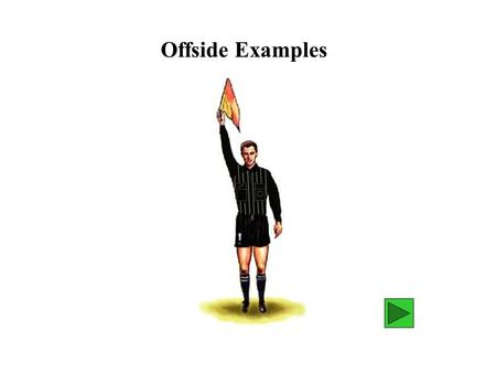 "Offside Examples. Should we declare ""B"" offside? Or should we wait ? declare wait Diagram 1 B A."