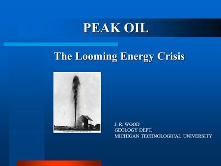 Impact of looming oil crisis on