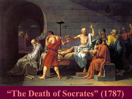 """The Death of Socrates"" (1787). Ruins of the Athenian Jail."