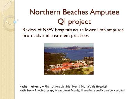 Northern Beaches Amputee QI project