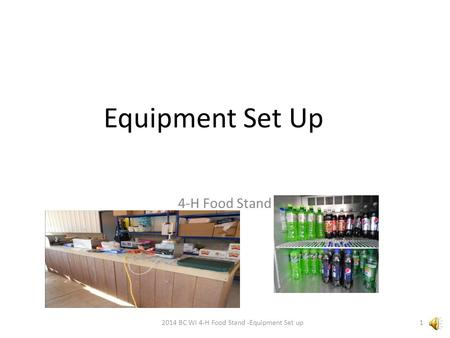 Equipment Set Up 4-H Food Stand 2014 BC WI 4-H Food Stand -Equipment Set up1.