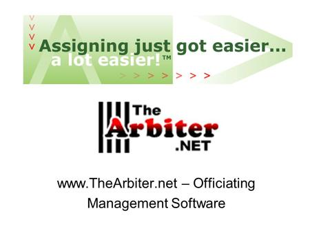 – Officiating Management Software
