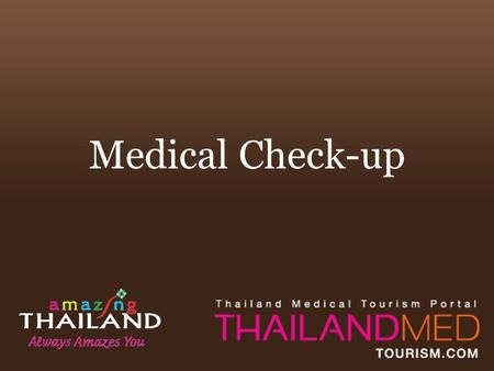 Medical Check-up. Summary A health check up evaluates a family's medical history and conditions and gives the patient a partial or complete medical examinations.