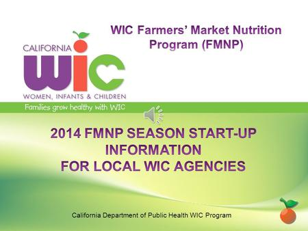 California Department of Public Health WIC Program.