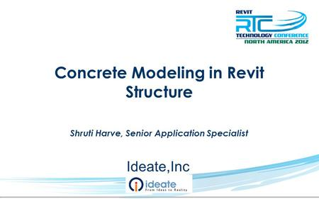 Concrete Modeling in Revit Structure