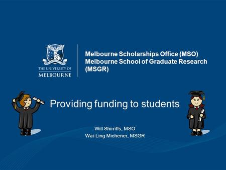Providing funding to students
