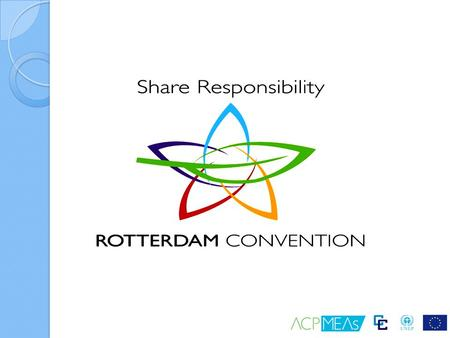 Introduction The Rotterdam Convention promotes shared responsibility and cooperative efforts among Parties in the international trade of certain hazardous.