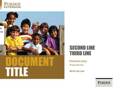 DOCUMENT TITLE SECOND LINE THIRD LINE Month day, year Presenter name Presenter title NOTE: this photo and other graphics in the template are just placeholders.