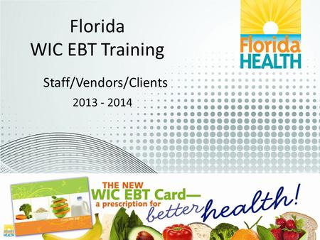 Florida WIC EBT Training