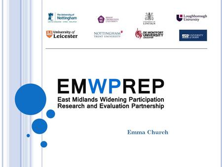 Emma Church. THE USE OF WP DATA : HOW IT CAN BE DEPLOYED TO INFORM PRACTICE AND INTERVENTION ? Uses of Data in the East Midlands Examples of the Use of.