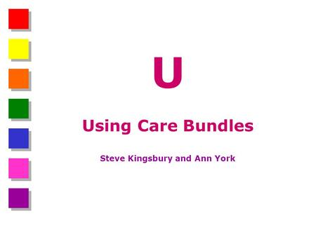U Using Care Bundles Steve Kingsbury and Ann York.