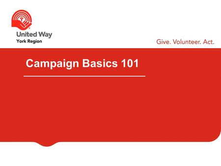 Campaign Basics 101. WELCOME & INTRODUCTIONS Your Name Your Company Your Role What are you hoping to learn today?