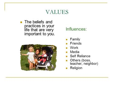 family influence in individual ethics Personal ethics is a category of philosophy that determines what an individual believes about morality and right and wrong these branches of ethics occasionally overlap personal ethics can affect all areas of life, including family.