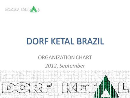 DORF KETAL BRAZIL ORGANIZATION CHART 2012, September.