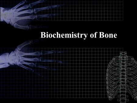 Biochemistry of Bone.