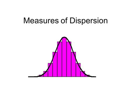 Measures of Dispersion. Here are two sets to look at A = {1,2,3,4,5,6,7} B = {8,9,10,11,12,13,14} Do you expect the sets to have the same means? Median?