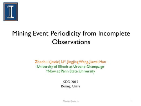 Mining Event Periodicity from Incomplete Observations