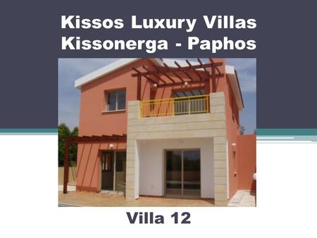 Kissos Luxury Villas Kissonerga - Paphos Villa 12.
