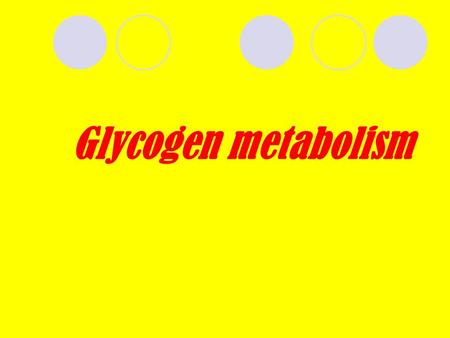 Glycogen metabolism. Glycogen is homopolysaccharide formed of branched α-D- GLUCOSE units (α1,4and α1,6) each branch is made of 6-12 glucose units, at.