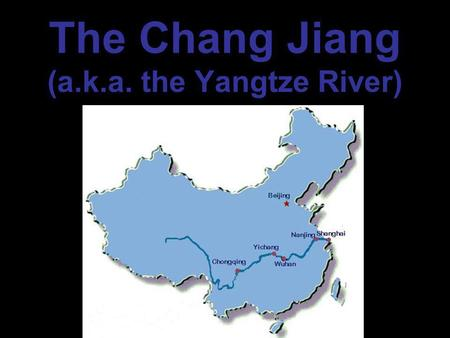 The Chang Jiang (a.k.a. the Yangtze River). Leaving Yichang …our first set of locks.