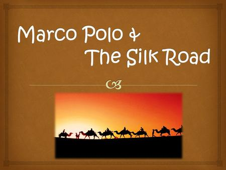 The Silk Road was one of the most important trade routes in history It connected Eastern Asia to the rest of Eurasia. Many ideas, goods, and inventions.