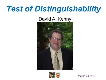 Test of Distinguishability