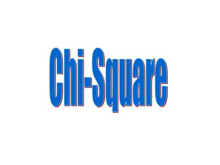 What is Chi-Square? Used to examine differences in the distributions of nominal data A mathematical comparison between expected frequencies and observed.