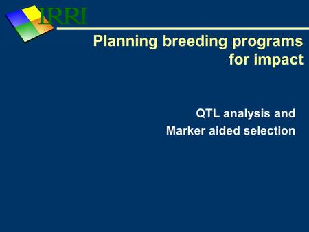 Planning breeding programs for impact