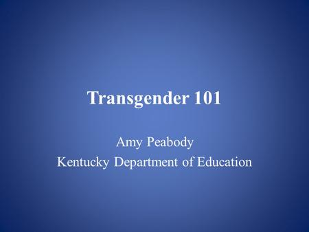 Amy Peabody Kentucky Department of Education