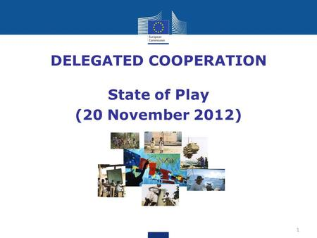 DELEGATED COOPERATION State of Play (20 November 2012) 1.