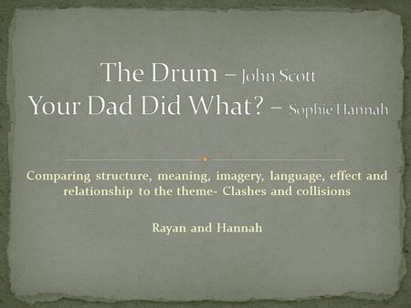 The Drum – John Scott Your Dad Did What? – Sophie Hannah