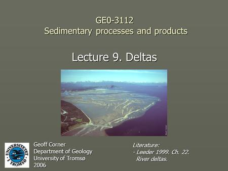 GE Sedimentary processes and products