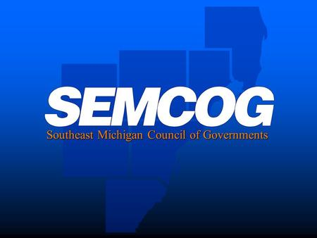 Southeast Michigan Council of Governments. The Age Wave Data from SEMCOG's 2040 Forecast Sirisha Uppalapati 2040 Forecast.