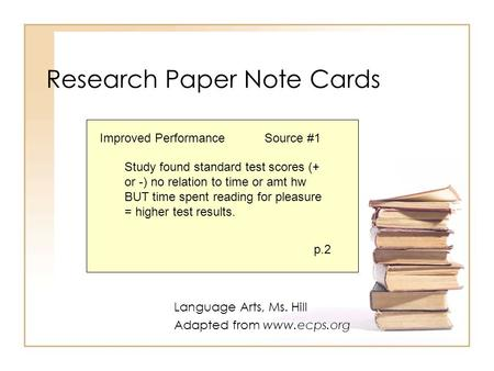 Notecard method research paper