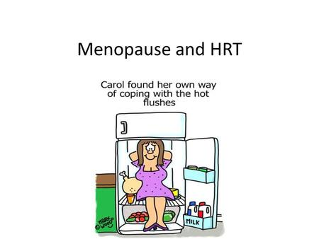 Menopause and HRT. AIMS Menopause : How to diagnosis Symptoms Treatments Premature menopause HRT : indications/contraindications.