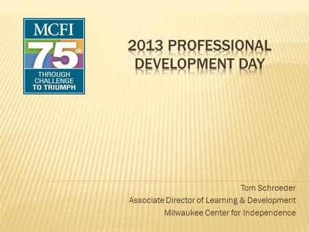 2013 Professional Development Day