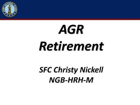 AGR Retirement SFC Christy Nickell NGB-HRH-M.