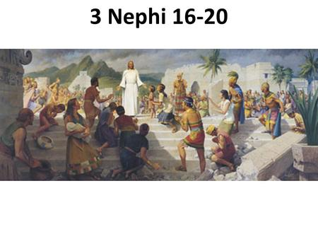 3 Nephi 16-20 What is this called? How high is it? What if a professional team asked the referees to lower it?