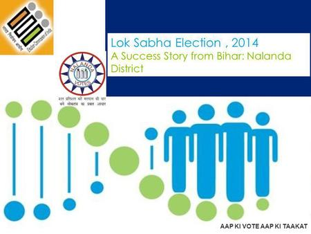 Lok Sabha Election, 2014 A Success Story from Bihar: Nalanda District AAP KI VOTE AAP KI TAAKAT.