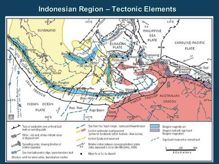 Indonesian Region – Tectonic Elements. Indonesian Region – Earthquake Hypocenters (since 1973) Epicenter for M=9.0 event Dec 26, 2004.