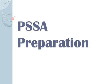 PSSA Preparation. Question 1(no calculator) D Question 2 (no calculator)