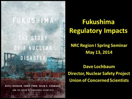 Fukushima Regulatory Impacts