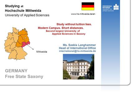Studying at Hochschule Mittweida University of Applied Sciences