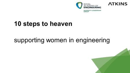 1 10 steps to heaven supporting women in engineering.