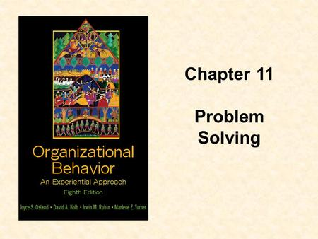 Chapter 11 Problem Solving.