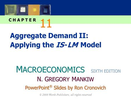 M ACROECONOMICS C H A P T E R © 2008 Worth Publishers, all rights reserved SIXTH EDITION PowerPoint ® Slides by Ron Cronovich N. G REGORY M ANKIW Aggregate.