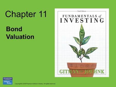 Chapter 11 Bond Valuation.
