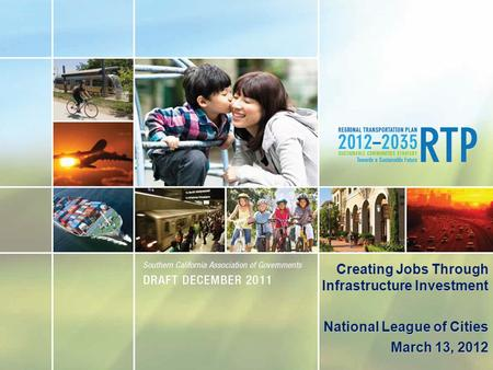 Creating Jobs Through Infrastructure Investment National League of Cities March 13, 2012.