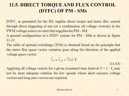 11.5. DIRECT TORQUE AND FLUX CONTROL